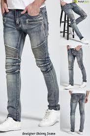 Mens Grey Designer Jeans Designer Skinny Jeans Skinny Jeans Mens Clothing Styles