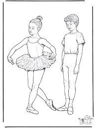 Ballet 1 Kleurplaat Ballet