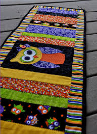 quilted owl table runner pattern
