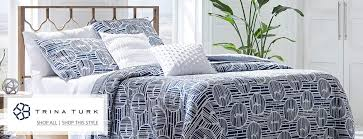 creative shot of trina turk bedding
