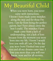 Beautiful Son Quotes Best of Daveswordsofwisdom My Beautiful Child