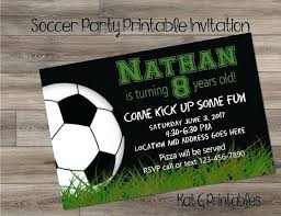 Soccer Party Invitation Template Soccer Birthday Invitations Jwintz