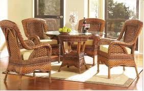 image of wicker dining chairs design