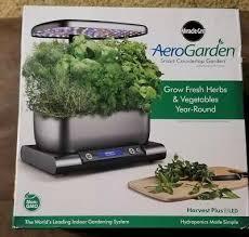 miracle gro aerogarden harvest plus led countertop garden grey new never used