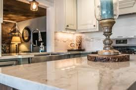 detailed close up of quartz kitchen island