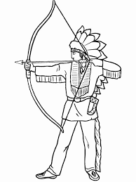 Native American Coloring Pages Archery Coloringstar