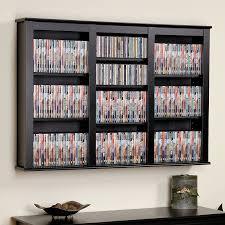 prepac large wall mounted media shelf