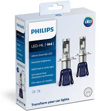 Bóng Đèn Pha Ô tô, Xe hơi Philips Ultinon Essential LED H4 11342UEX2 6000K  - Đèn ô tô