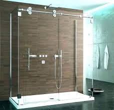 install new shower door hanging shower doors shower door hardware rolling hanging shower door hardware on glass keeps the bath feeling open and oil