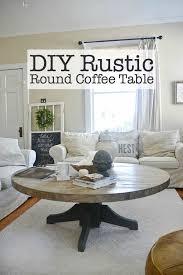 diy rustic dining room tables. DIY Round Coffee Table - Liz Marie Blog Diy Rustic Dining Room Tables
