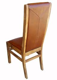 ratamba leather dining chair sheesham furniture