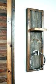 rustic towel ring ladder wall mounted wooden rail rings hand bar creative and toilet roll holder