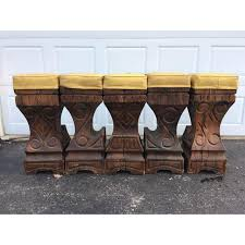 polynesian furniture. Witco Polynesian Style Wood Bar Stools - Set Of 5 Image 6 Furniture H