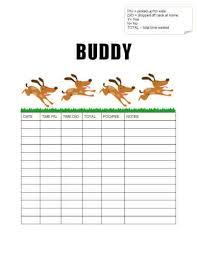 Printable Walking Charts Free Printable Dog Walking Log Templates Hloom