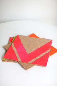 Cork placemats featured on Style Me Pretty Living today made with cork  tiles, tape and