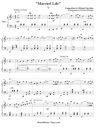0 / 155 correct notes. Married Life Sheet Music Michael Giacchino From Up Sheetmusic Free Com