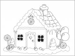 Small Picture Gingerbread House Colouring Pages For Kids FITFRU Style