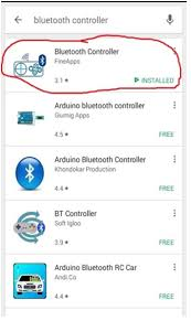 once the bluetooth in android phone is turned on and app is started the following screen will be opened android screen for arduino based home automation