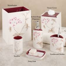 Red Bathroom Accessories Sets Bathroom Accessory Sets Touch Of Class