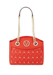 textured studded italian leather handbag