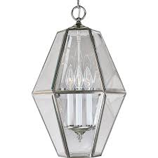 progress lighting 3 light brushed nickel foyer pendant wi