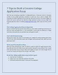 College Essays Tips Tips For College Application Essays Under Fontanacountryinn Com