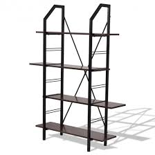 office bookshelf. Fine Bookshelf 4 Layers Wooden Storage Bookshelf Home Office Furniture And