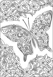 Twenty Adult Coloring Pages Butterflies Dragonflies Butterfly