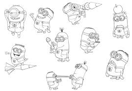 Small Picture Free Despicable Me Coloring Pages Minions Cartoon Coloring pages