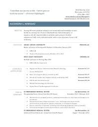 Example Resume Student Examples Of Nursing Resumes For New Graduates 86