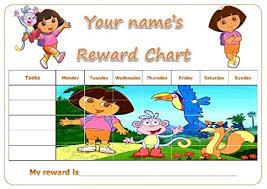 Personalised Dora The Explorer Reward Potty Training Chart