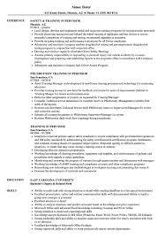 Training Supervisor Resume Samples Velvet Jobs