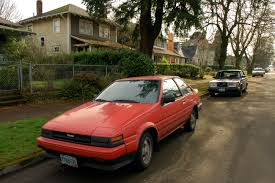 OLD PARKED CARS.: 1986 Toyota Corolla GT-S.