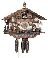 cuckoo clock 8 day movement chalet style 44cm by anton schneider