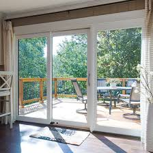 sliding patio door with white trim lifestyle series
