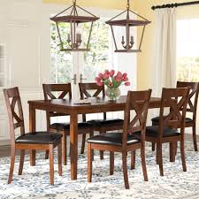 darby home co nadine 7 piece breakfast nook dining set reviews wayfair