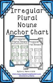 Irregular Plural Noun Anchor Chart Noun Anchor Charts