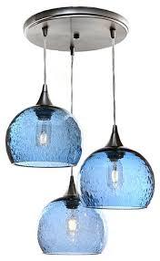 lunar 3 pendant cascade chandelier no 767 steel blue