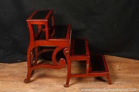regency metamorphic chair set library steps armchair gany