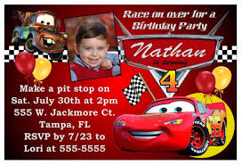 Car Birthday Invitations Free Printable Birthday Invitations Cars Theme In 2019