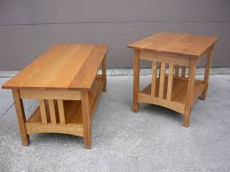 coffee table quartersawn oak mission style coffee table and end table mission style side table