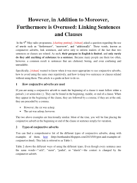 transitioning sentences transitioning between sentences and clauses docshare tips