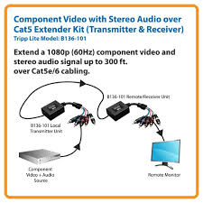 amazon com tripp lite component video with stereo audio over cat5 Rca Cat5 Wall Plate Wiring Diagram extend a 1080p (60hz) component video and stereo audio signal up to 300 ft Cat5e Wall Jack Wiring Diagram