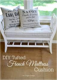 diy tufted french mattress cushion an oregon cottage