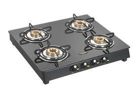 four burner glass top lpg stove