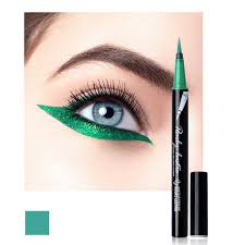waterproof 8 colors blue green liquid eyeliner maquiagem easy to wear quick dry eyeliner pencil