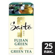 <b>SAITO чай зеленый</b> в сашетах Fujian Green (25шт)   Unilever ...