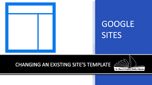 Google Site Templates Google Sites Changing An Existing Site S Template