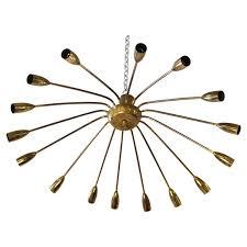 european mid century modern metal spider chandelier