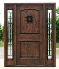 Exterior Door With Sidelights Prefinished - Iron exterior door